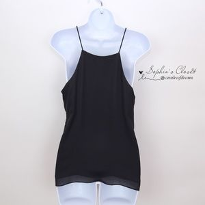 Wayf Tops - WAYF Laced Up Black Camisole